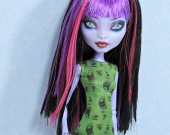 Monster Doll Wig High Fashion *New Style*  Saran Hair OOAK Custom Fantasy Dolls Black Wine and Purple