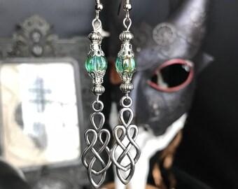 Celtic - elven earrings - Celtic knot - Brocéliande - pagan - romantic - medieval