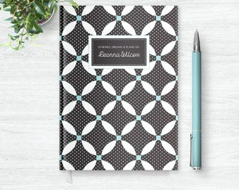 Personalized Notebook Journal   Custom Journal for Her   Personalized Journal Diary   Custom Notebook   Womens Notebook   PSNTB_0023