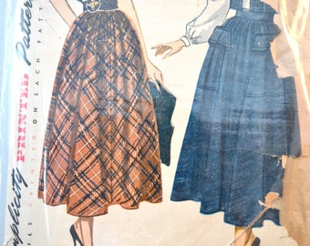 1940s Vintage Simplicity Pattern 2944 Misses Blouse, Skirt and Bolero size 14 bust 32