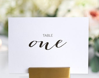 Table Numbers 1 to 12 - Wedding Table Numbers - Printable