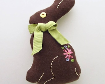 Chocolate Bunny Sewing Pattern - Easter Decoration - Easter Basket - Easter Ornament - Easter Bunny