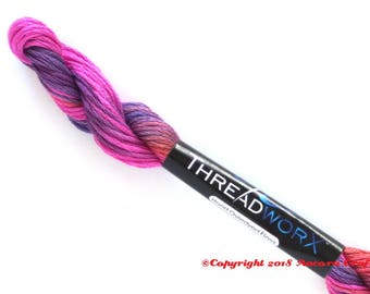 Variegated Embroidery Floss ThreadworX 1150 Funky Lilac