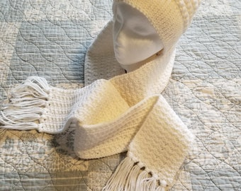 White Star Hat and Scarf