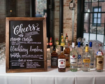 Custom Bar Menu Chalkboard Sign