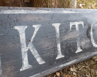 Custom Kitchen Wood Sign - HandCrafted Rustic Wooden Decor