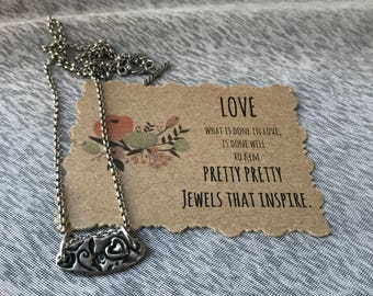 The Secret Garden Collection ~ Couples Initials~Love Necklace