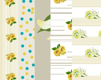 Yellow Flower Paper pack