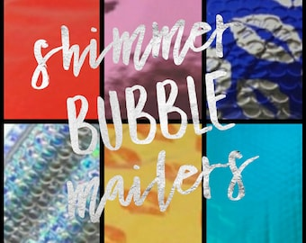"""Shimmer Bubble Mailers 6"""" x 9"""""""