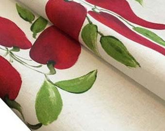 Chilli, tea towel,  linen/ cotton, hand painted