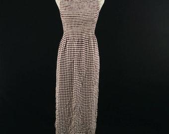 90s Vintage Gingham Dress
