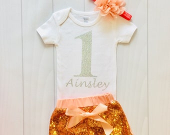 Girls First Birthday | Custom name | First Birthday | First Birthday Outfit