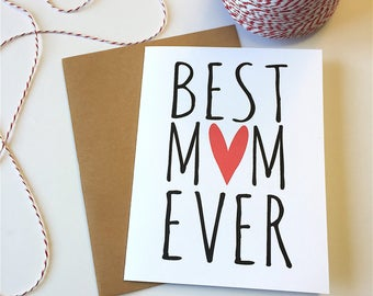 Best mom ever card, Best mom card, Mothers day card wife, Best mom ever, Birthday card for mom, Cute mother's day card, Mom wedding card