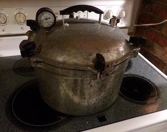 Vintage Manitowoc Aluminum No. 7 Pressure Cooker 15 1/2 Qts, All American #7 Pressure Cooker Canner 15.5, Morethebuckles