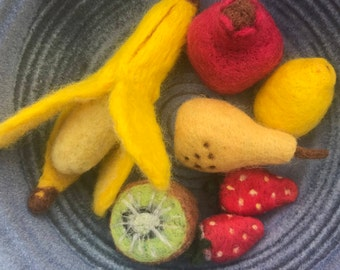 Needle Felted Fruit Bowl
