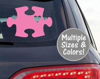 Autism Puzzle Piece Decal for Car, Autism Awareness Decal, Autism Vinyl Stickers, Autism Car Decal, Awareness Decal for Car Window Decal