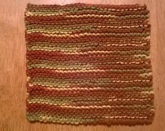Handmade Garter Stitch Dishcloth