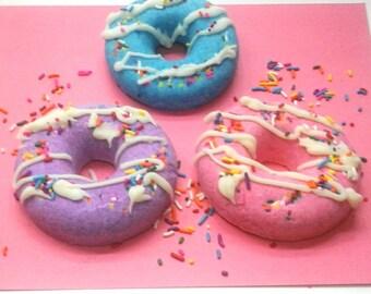 Bath Bomb Donut, Bath Bomb Doughnut, Bath Bomb, Bath Fizzy, Donut Bath Bomb, Doughnut Bath Bomb