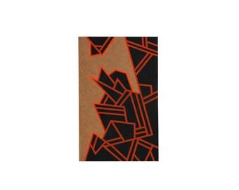 Graphic notebook kraft and fluorescent orange - Pégase