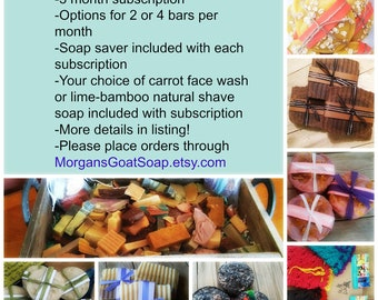 Soap Club, Soap Subscription, 3 Month Subscription, Shipping Included, Goat Milk Soap, Homemade Soap, Cold Process Soaps, Florida Soap Club,