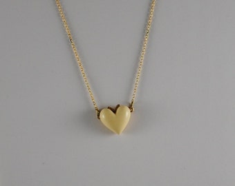 Heart Necklace Vintage Heart Pendant 1960s
