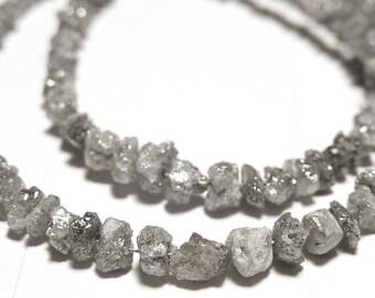 DIAMOND Gemstones, Silver  Raw, Rough, Diamond Nuggets. Precious Gemstone Beads 1.5mm to 3.5mm. Your Choice (bdia1)