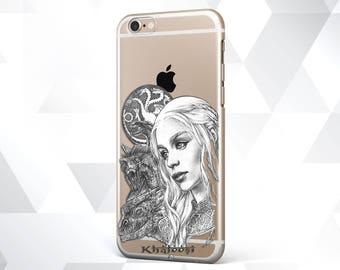 Khaleesi case Princess Khaleesi gift Mother of Dragons Game of Thrones khaleesi print Silicone Daenerys Targaryen prints Daenerys dragon