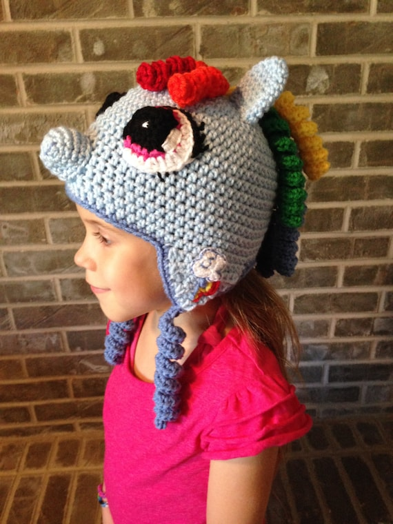Rainbow Dash My Little Pony Crochet Hat Pattern Only