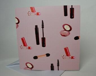 Make-up Greeting Card