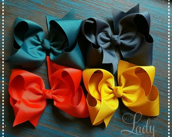 Hair-bows- made to match Matilda Jane-Once upon a time-chapter 3-Hair-bows for girls-chose your size-3,4,5,6 or 7 inch Hair-bow bundle-baby
