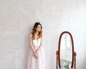 Pink wedding dress etsy light pink wedding dress lace wedding dress bridal gown open back wedding dress junglespirit Images