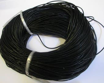 1 meter black 1.5 mm leather cord