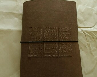 Brown Embossed Junk Journal