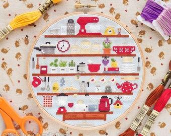 Cute Kitchen Cross Stitch Pattern PDF | Cute Room Cross Stitch Series | Easy | Modern | Beginners Counted Cross Stitch Pattern