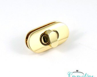 Small Turn Lock (with screws) - Gold Finish