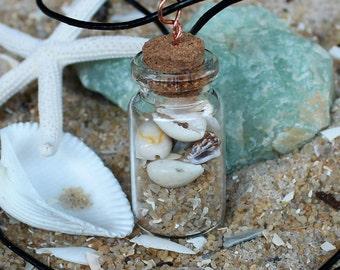 Beach in a bottle pendant