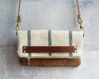 leather crossbody handbag, handbag, clutch bag, clutch, leather bag, evening clutch, crossbody bag, woven bag. boho handbag