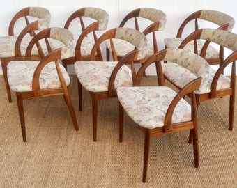 Fabulous Set of 8 DANISH Dining Chairs 1970,s