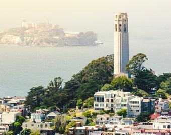 Coit Tower Telegraph Hill San Francisco Art Print Wall Decor Image - Unframed Poster