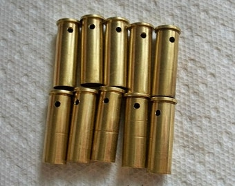 Shell casings bullet shells bullet pendants, Lot of 10 Brass .38 Special Bullet Shell Casings drilled bullets drilled casings.....Lot  #75