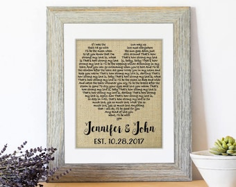 First Dance Song Lyrics, Personalized Wedding 1st Anniversary Gift, First Year Wedding Anniversary Wedding Song, First Dance Love Song