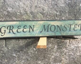 Green Monster sign