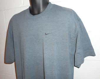 Vintage 90s Gray Nike Swoosh T-Shirt XL