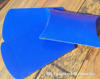 6-Royal blue party favor boxes, royal blue favor boxes, royal blue favor pillow boxes