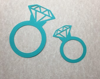 25 Cardstock Die Cut Diamond Ring