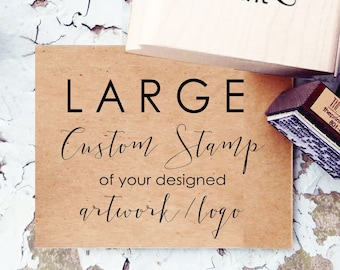 Large Custom Stamp- Custom Logo Rubber Stamp- Oversized Custom Stamp - Custom Business Stamp- Extra Large Size Stamp- Custom Logo Design