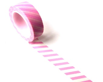 Washi Tape Pink Stripes