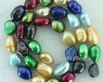 Good Quality Multicolour  Baroque pearl Beads Freshwater Pearl Potato Multicolour Loose Beads 8-9mm 14 inches Full Strand Item No-BP024