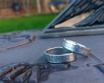 WWII era steel wheat penny coin ring