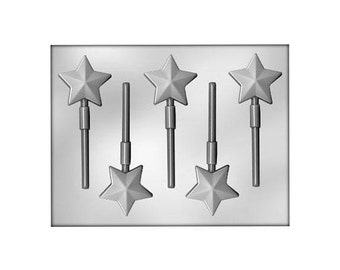 Star Lollipop Mold, Star Chocolate Mold, Christmas Chocolate Mold, Star Lollipop Suckers